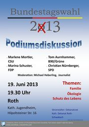 Plakat Podiumsdiskussion roth2013